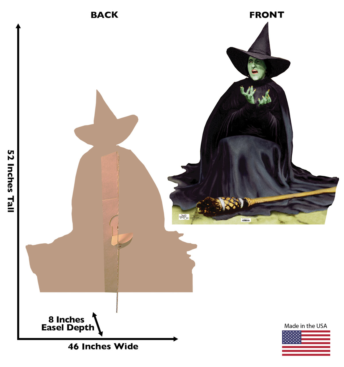 Life Size The Wicked Witch Melting Cardboard Standup