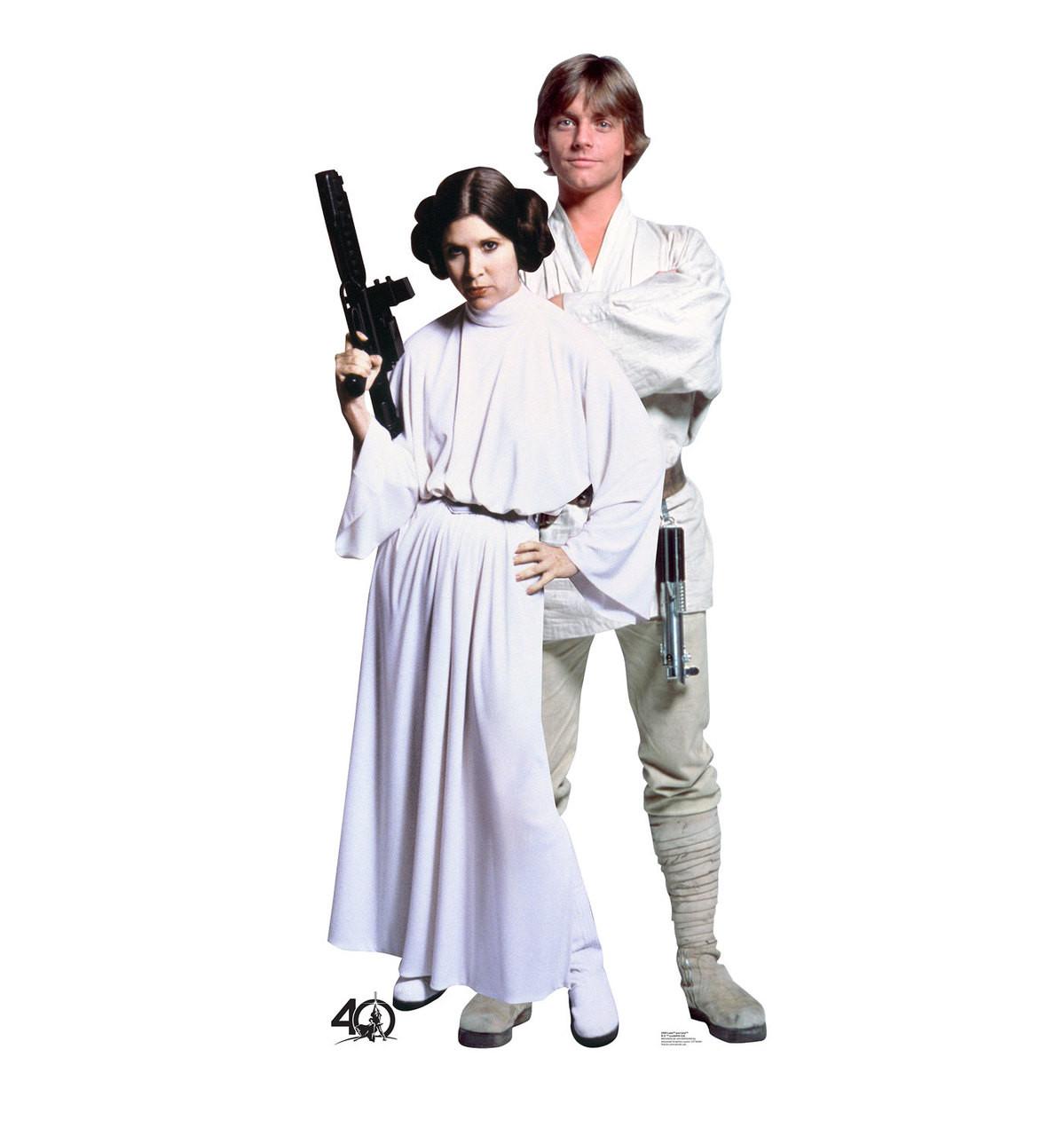 Life-size Luke and Leia  (Star Wars 40th) Cardboard Standup | Cardboard Cutout 3