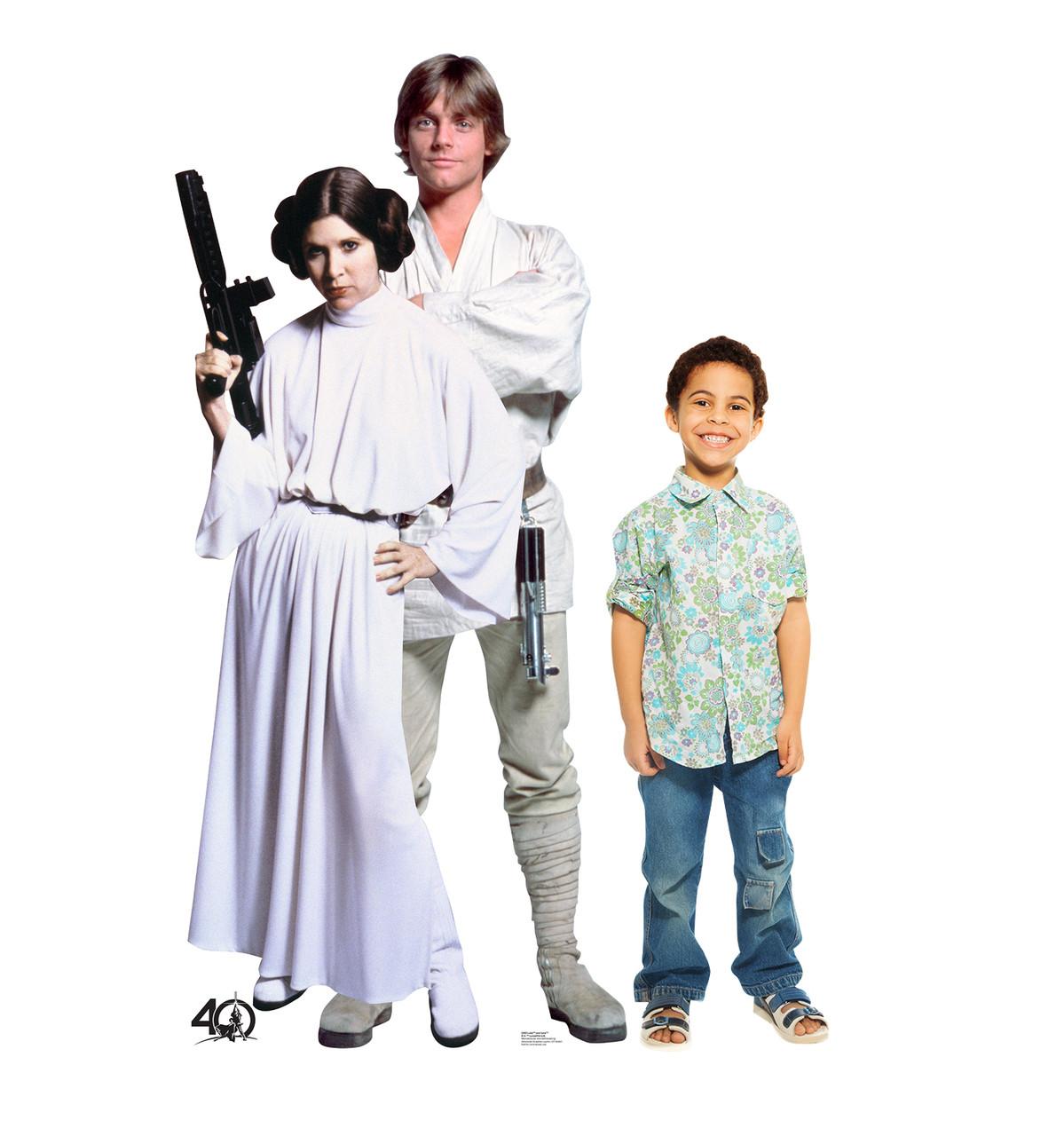 Life-size Luke and Leia  (Star Wars 40th) Cardboard Standup | Cardboard Cutout 2