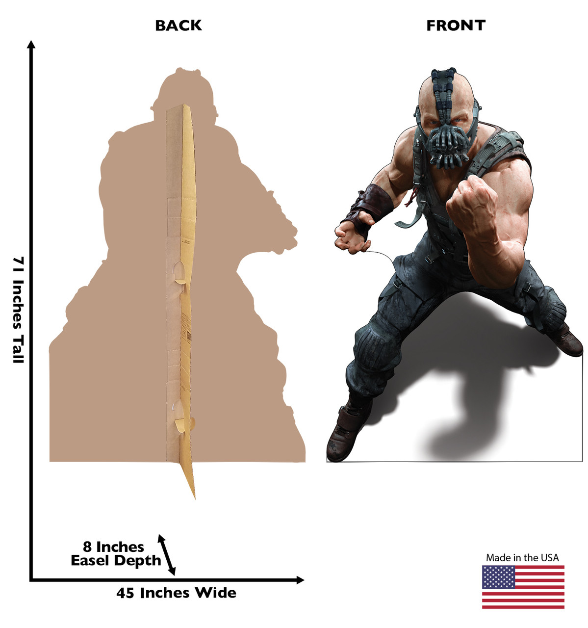 Bane - Cardboard Cutout Front and Back View