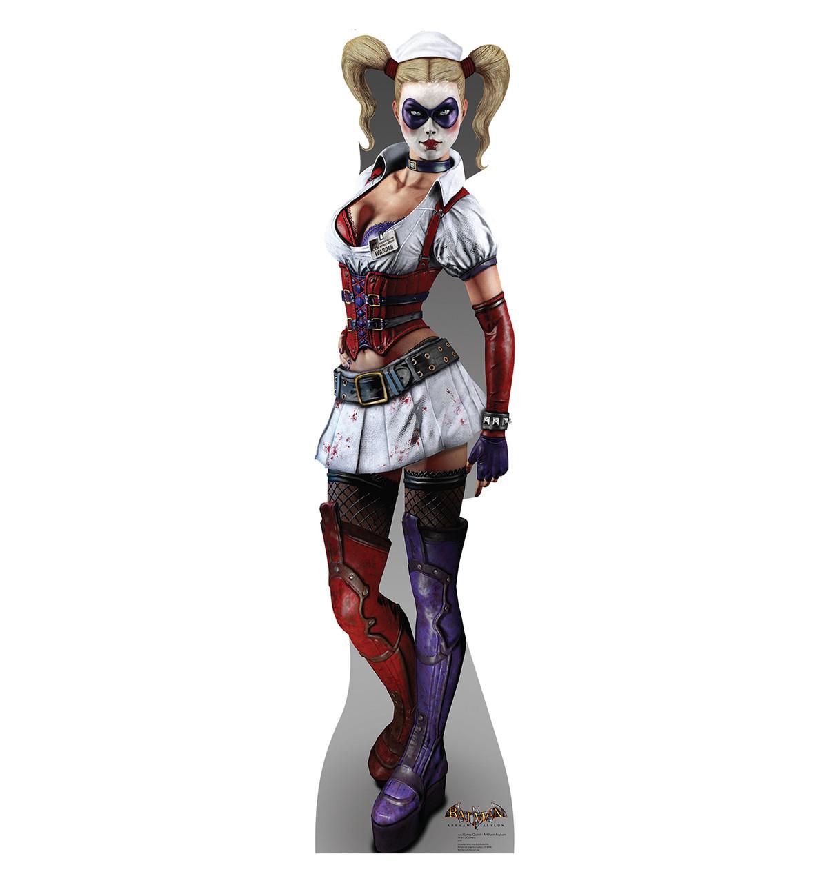 Life-size Harley Quinn - Arkham Asylum Cardboard Standup | Cardboard Cutout