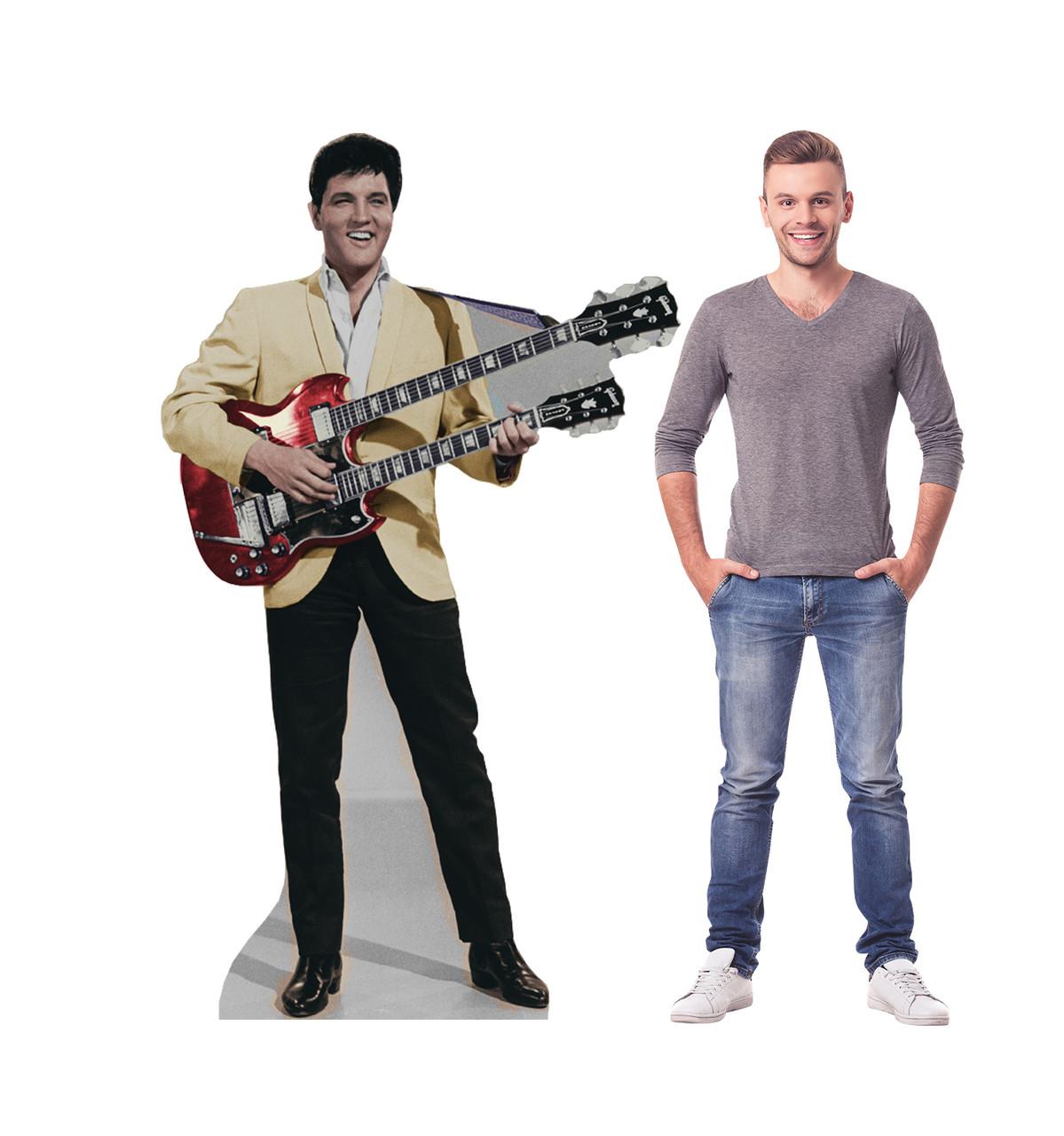 Life-size Elvis-Yellow Jacket Talking Cardboard Standup | Cardboard Cutout