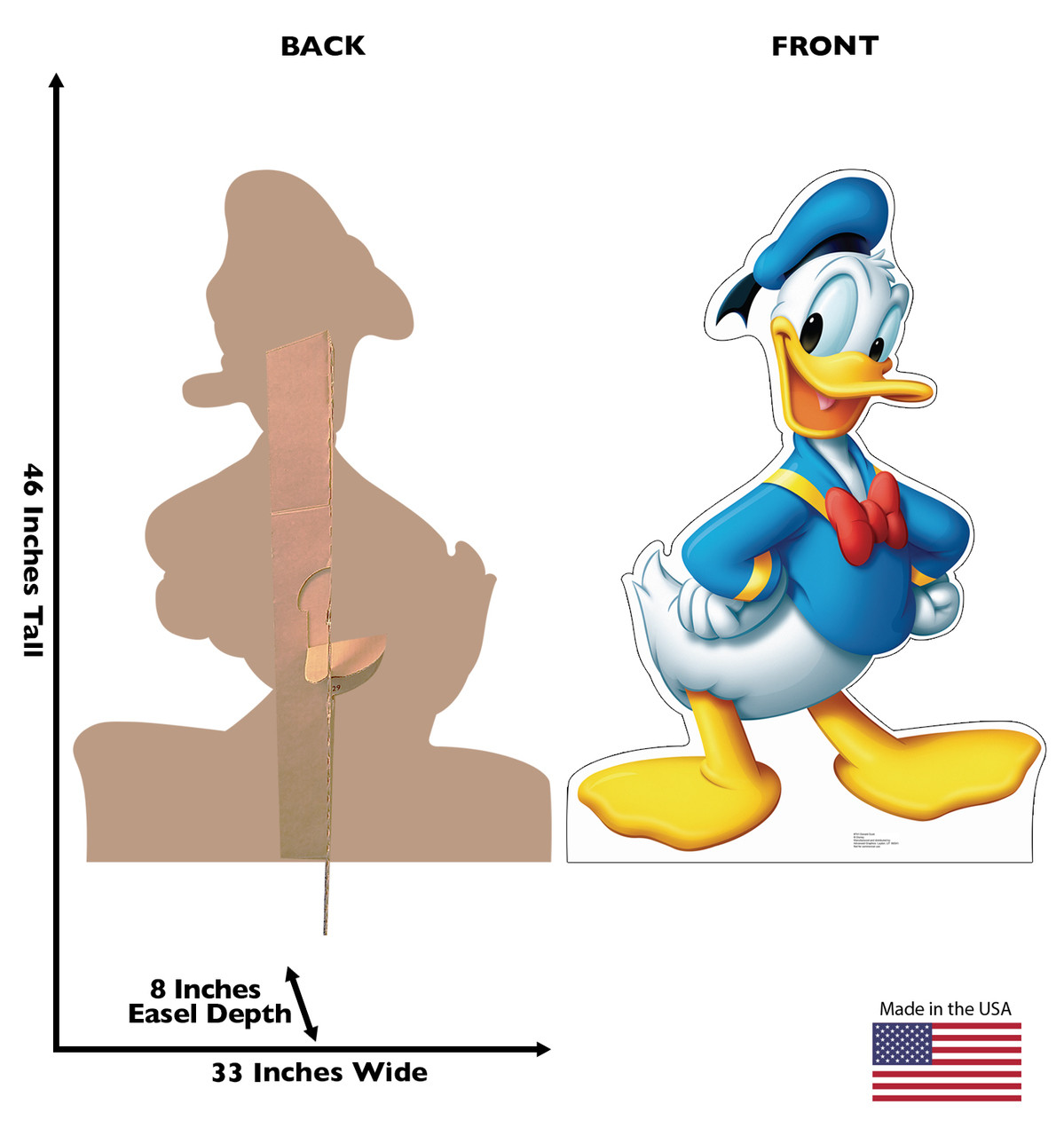 Donald Duck - Cardboard Cutout