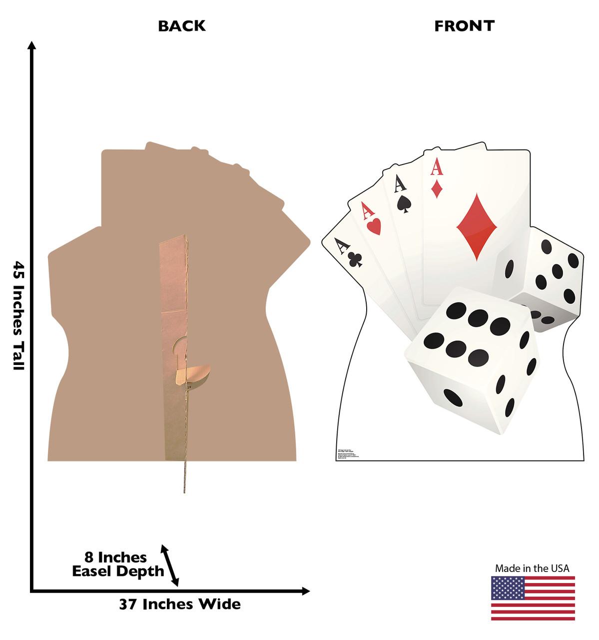 Life-size Vegas Cards and Dice Cardboard Standup | Cardboard Cutout