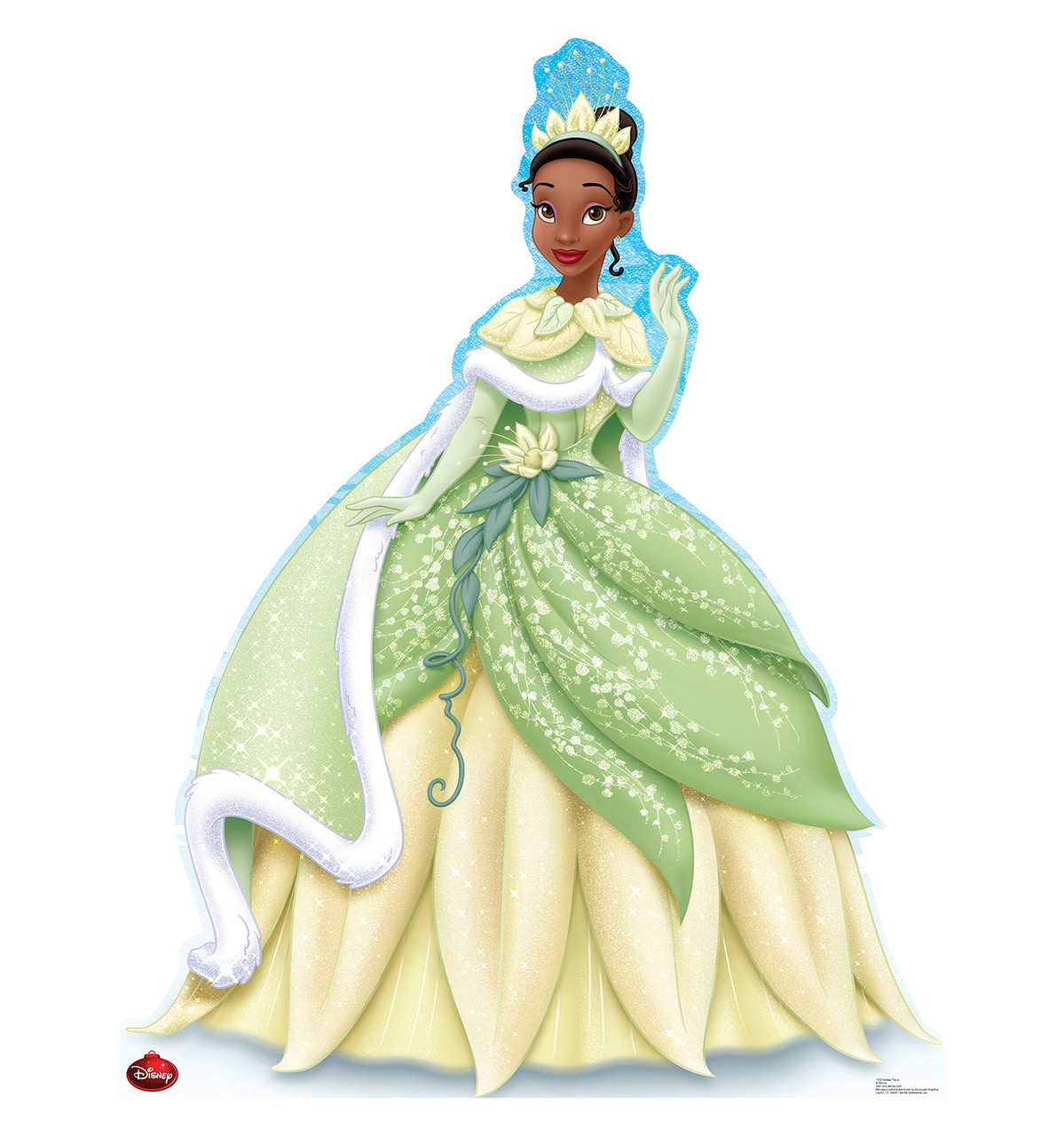 Life-size Holiday Tiana - Limited Time Edition! Cardboard Standup | Cardboard Cutout