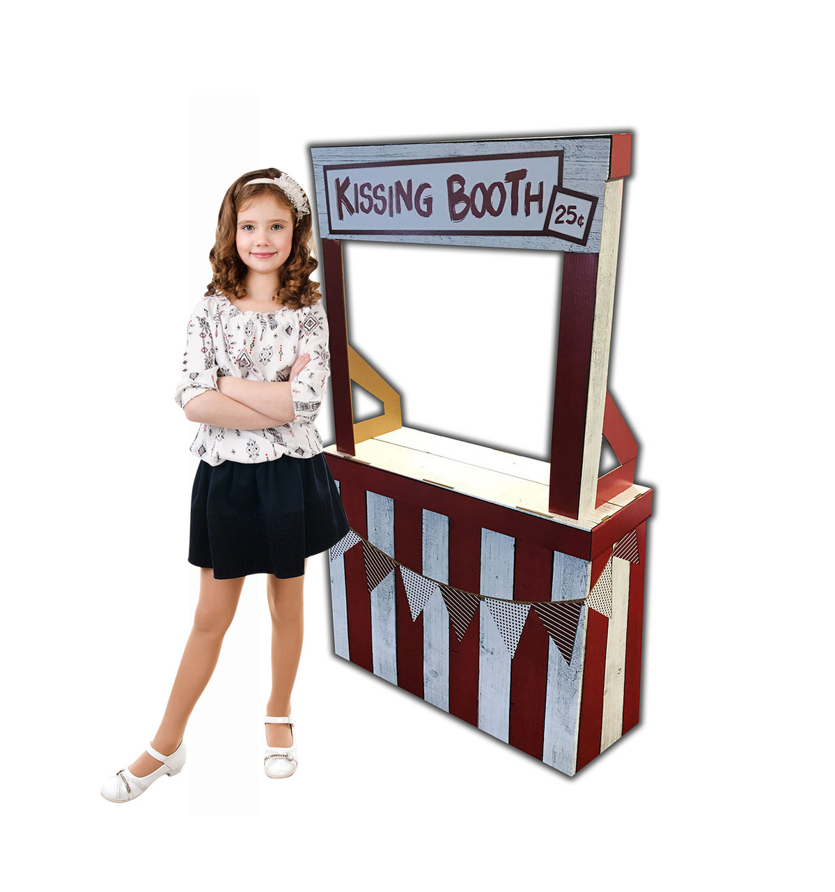 Life-size Kissing Booth Cardboard Standup | Cardboard Cutout 2