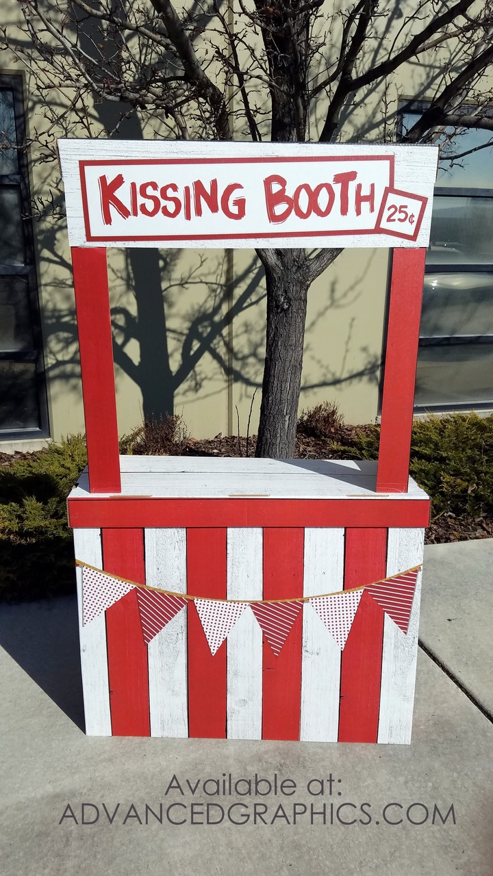 Life-size Kissing Booth Cardboard Standup | Cardboard Cutout 3