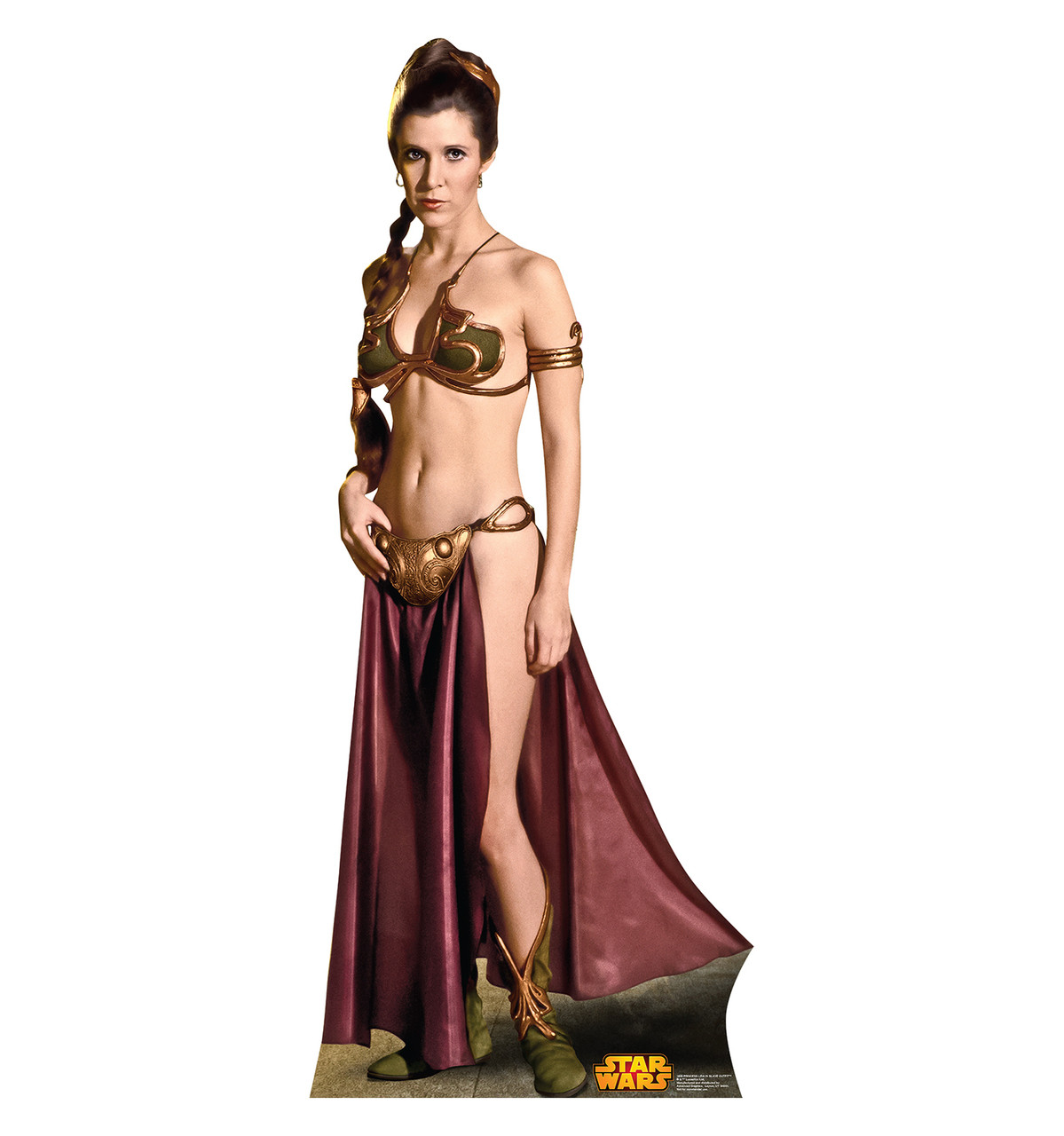 Life-size Princess Leia in Slave Outfit (Retouched) Cardboard Standup | Cardboard Cutout