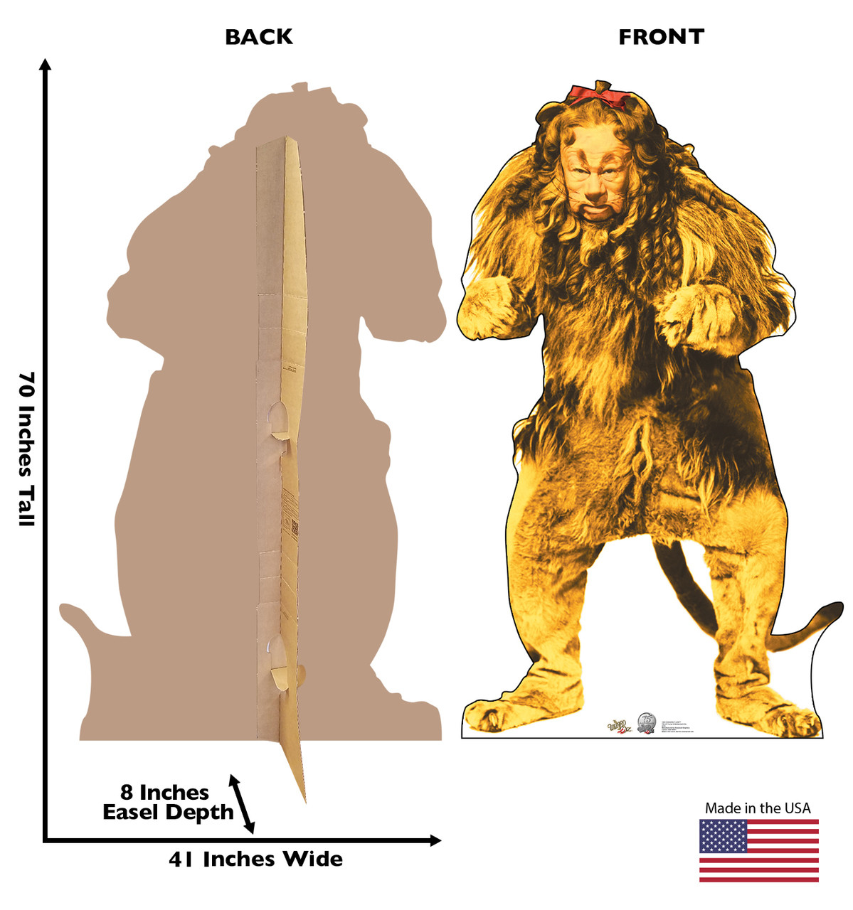 Life Size Cowardly Lion Wizard Of Oz 75th Anniversary Cardboard Standup