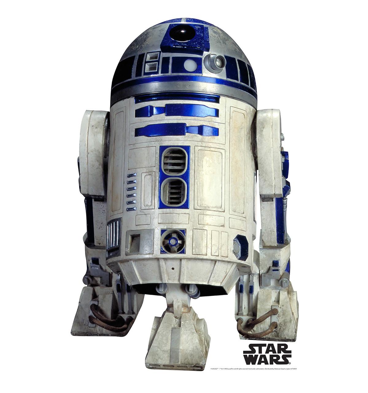 Life-size R2-D2 Cardboard Standup | Cardboard Cutout