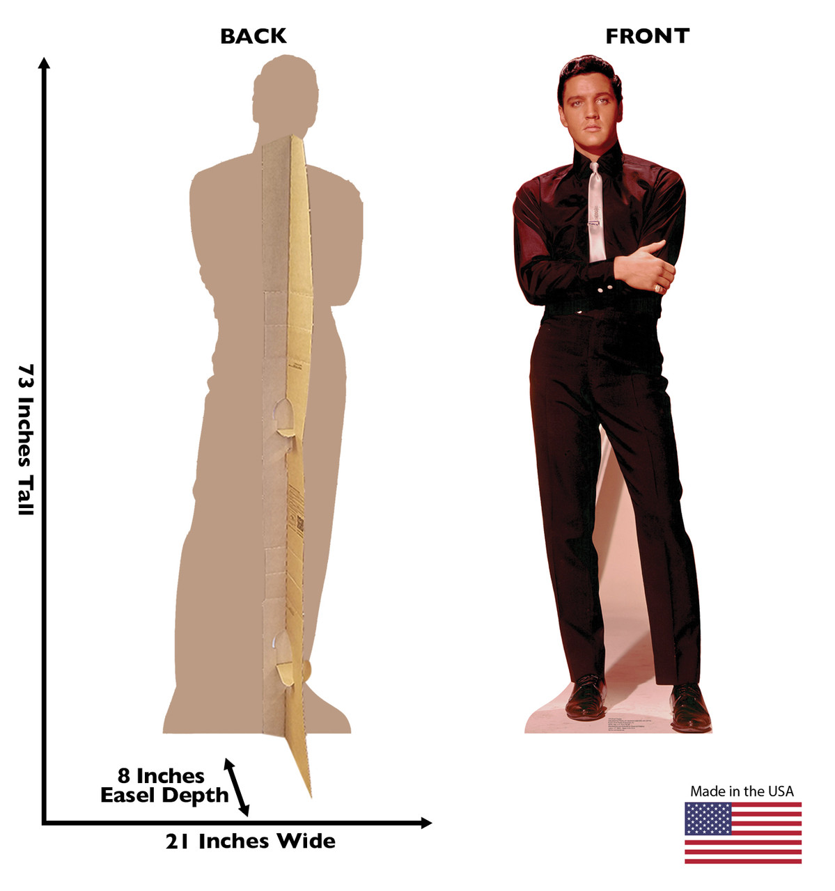 Life-size Elvis Presley Talking 1 Cardboard Standup front and back view