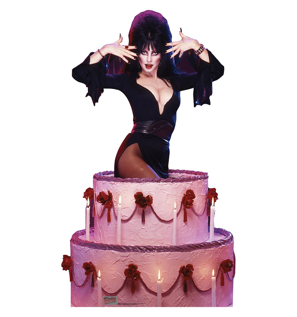 Life-size Elvira - Cake Cardboard Standup   Cardboard Cutout