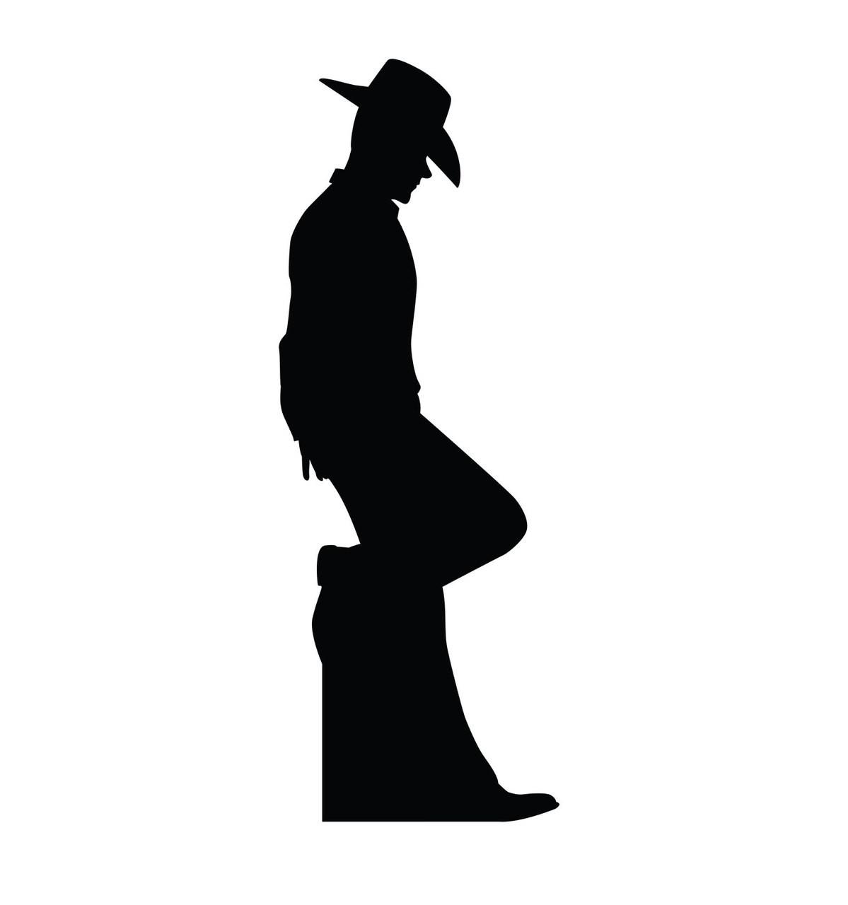 Cowboy Silhouette - Cardboard Cutout 2317