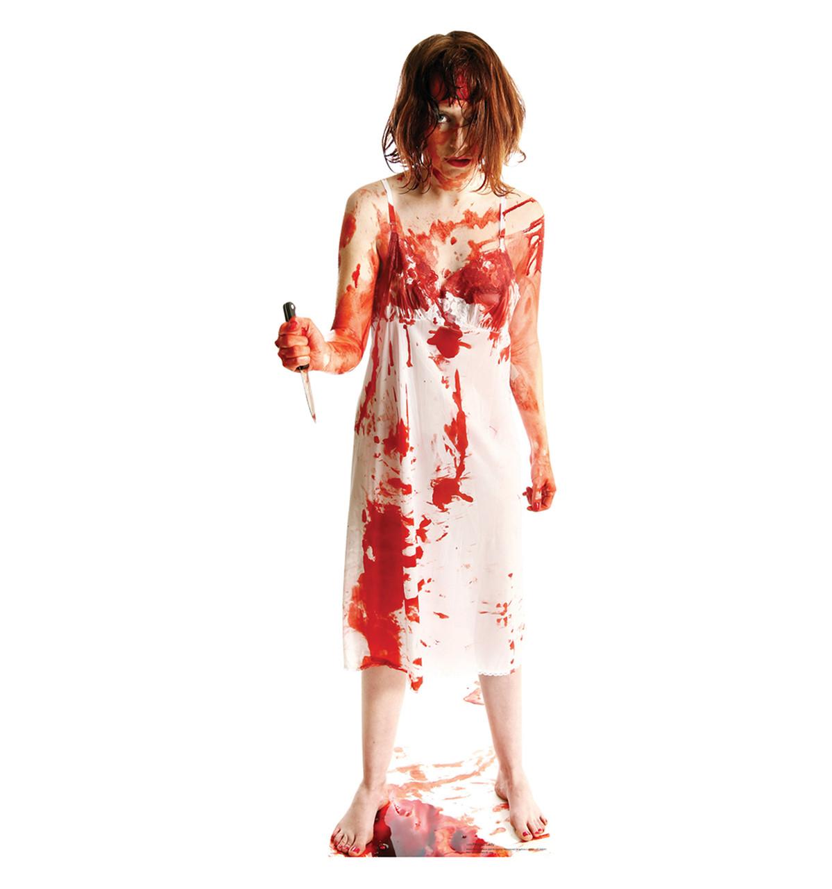 Life-size Psycho Lady Cardboard Standup