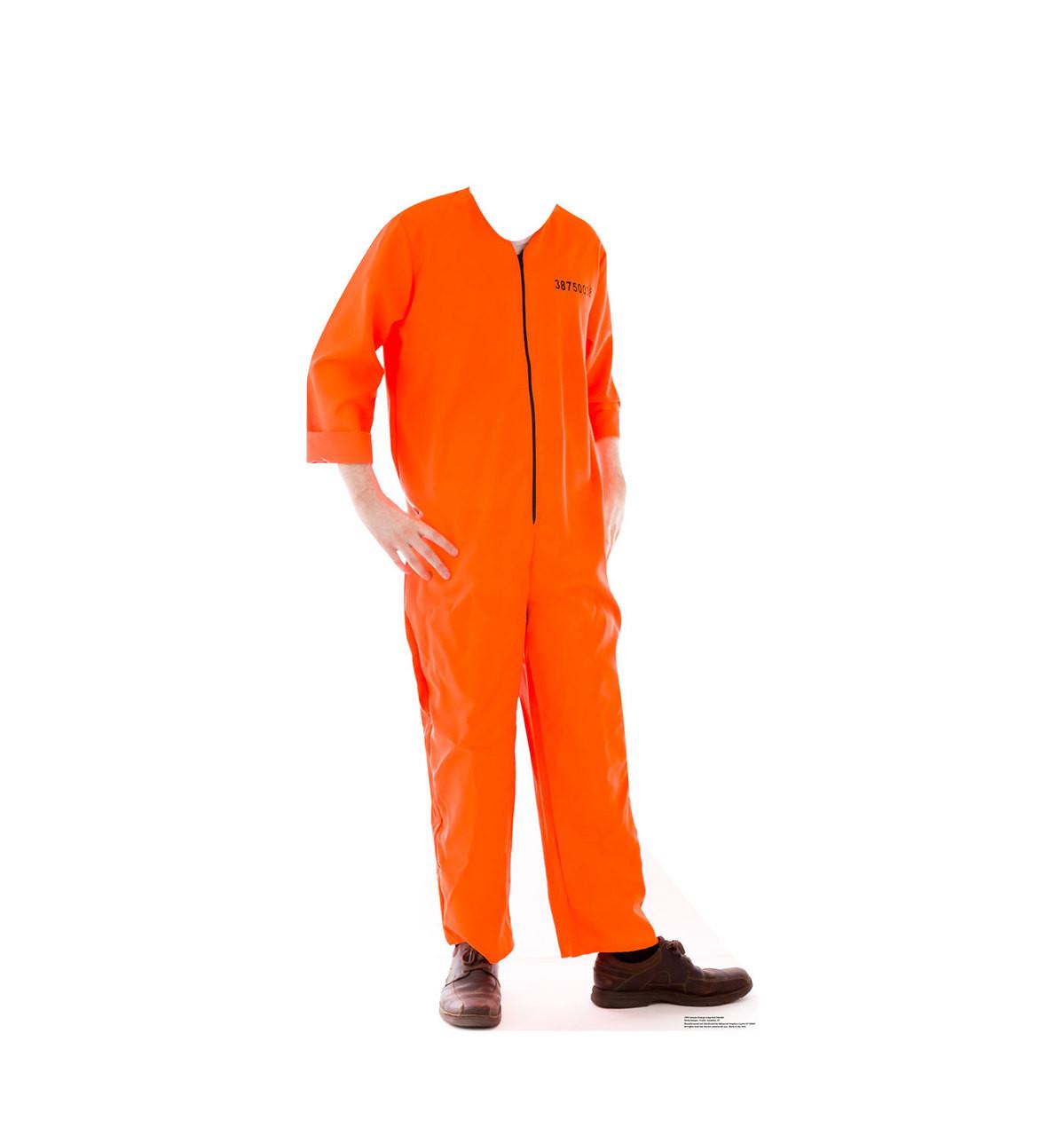 Life-size Inmate Orange Jump Suit Stand-in Cardboard Standup | Cardboard Cutout 3