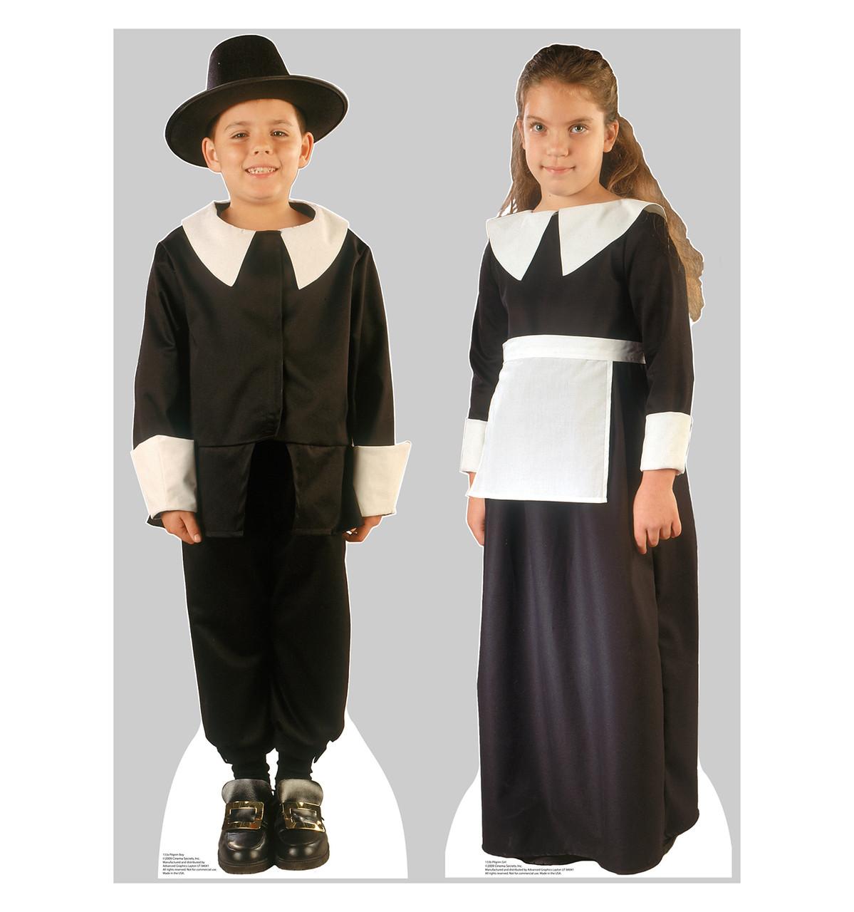 Life-size Pilgrim Boy and Girl Cardboard Standup | Cardboard Cutout