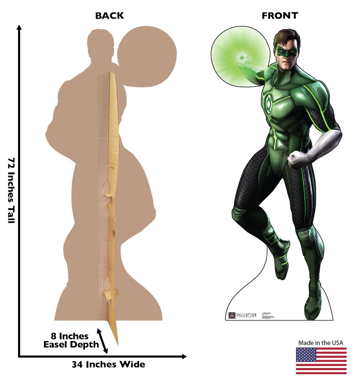 Life-size Green Lantern - Injustice Gods Among Us Cardboard Standup | Cardboard Cutout