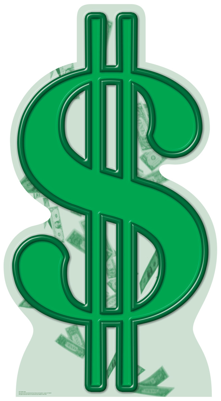 Dollar Sign - Cardboard Cutout