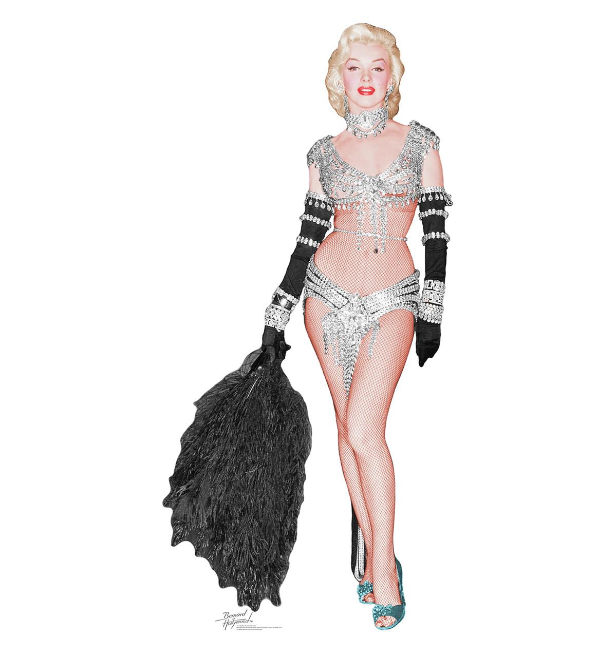 Life-size Marilyn Monroe - Showgirl Cardboard Standup