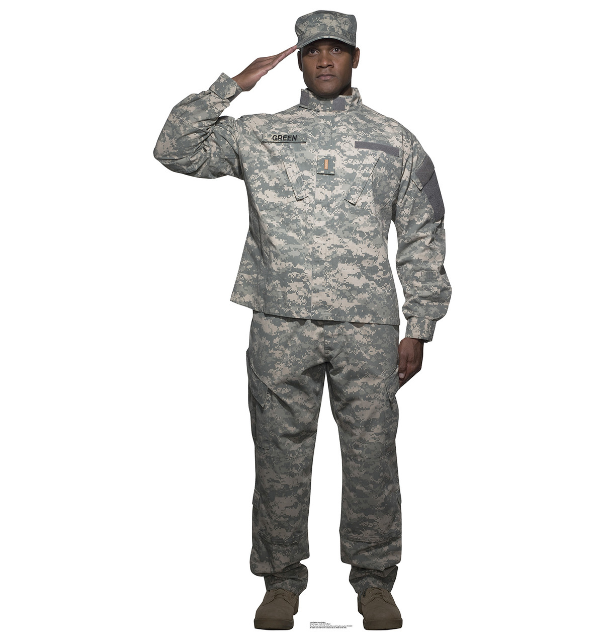 Life-size Digital Camo Soldier Cardboard Standup