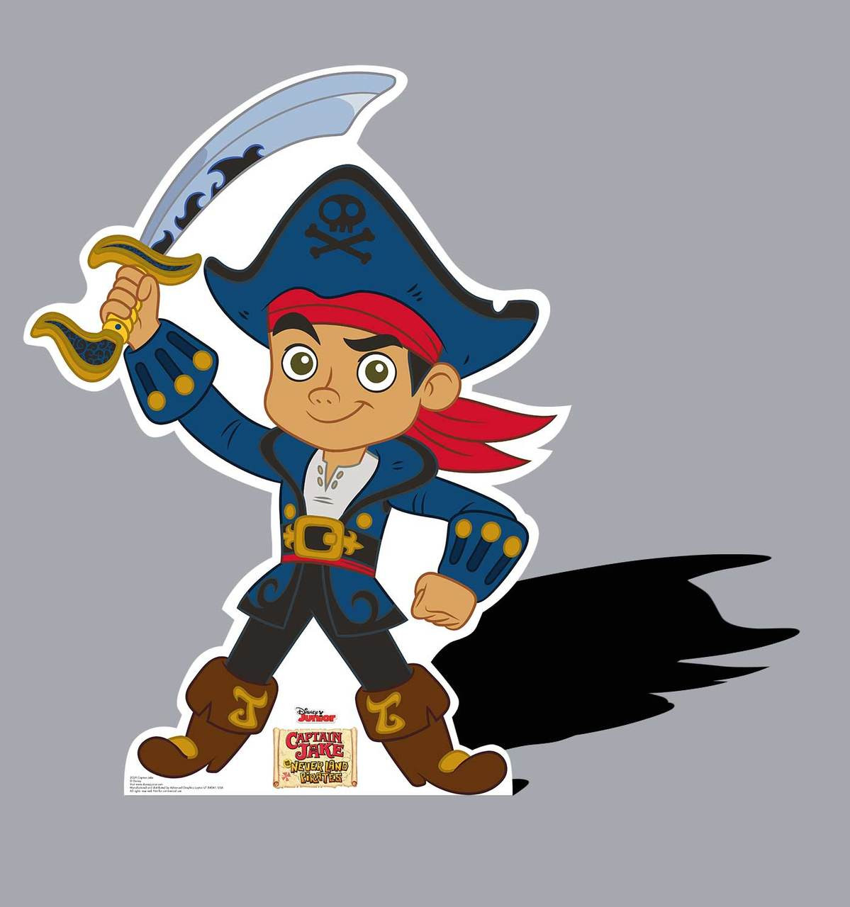 Life-size Captain Jake - Jake and The Neverland Pirates Cardboard Standup
