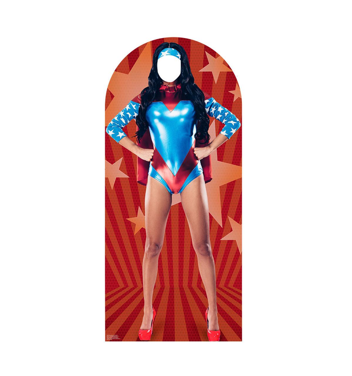 Woman Superhero Cardboard Stand-In