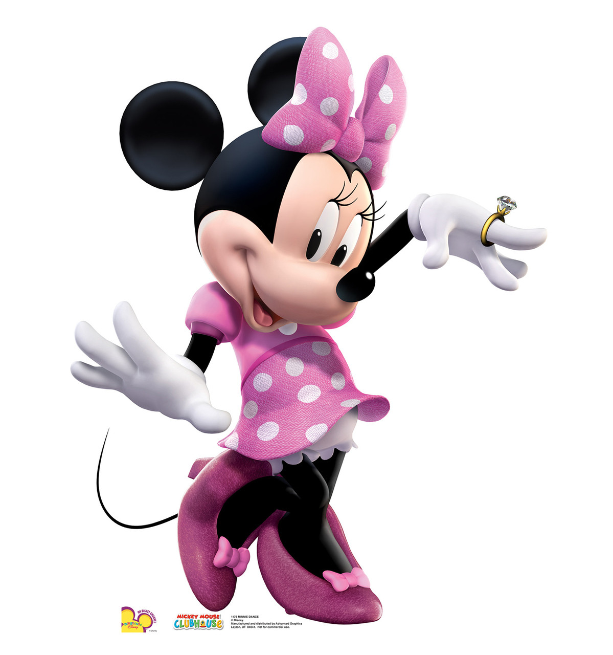 Life-size Minnie Mouse Dancing Cardboard Standup