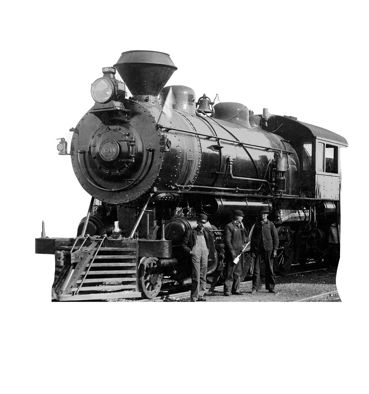 Life-size Antique Steam Engine Cardboard Standup