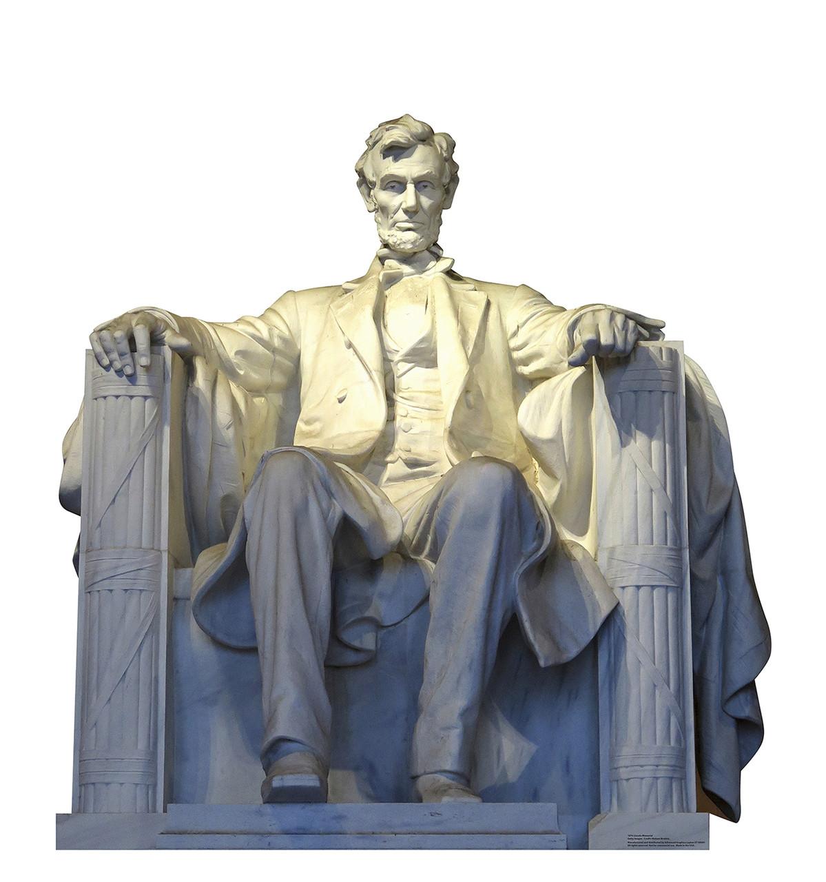 Life-size Lincoln Memorial Cardboard Standup