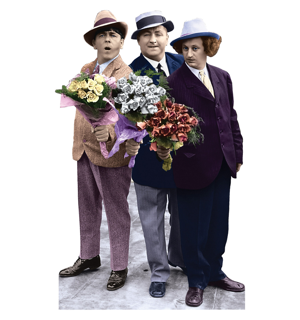 Life-size Three Stooges Flowers Cardboard Standup