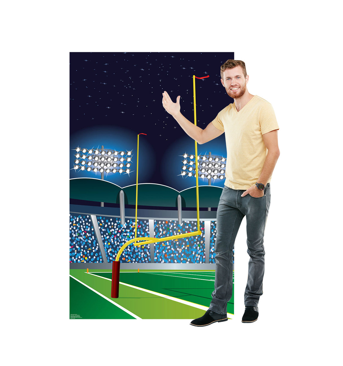 Life-size Football Goal Post Cardboard Standup 2