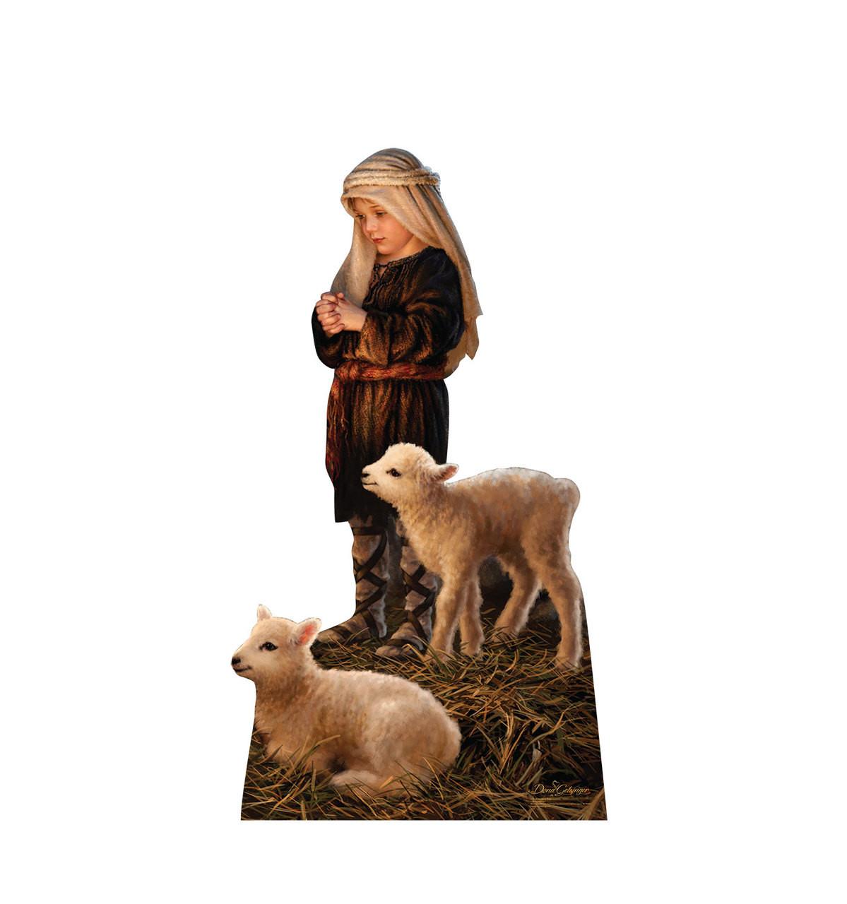 Life-size Shepherd Boy - Illustrated by Dona Gelsinger Cardboard Standup