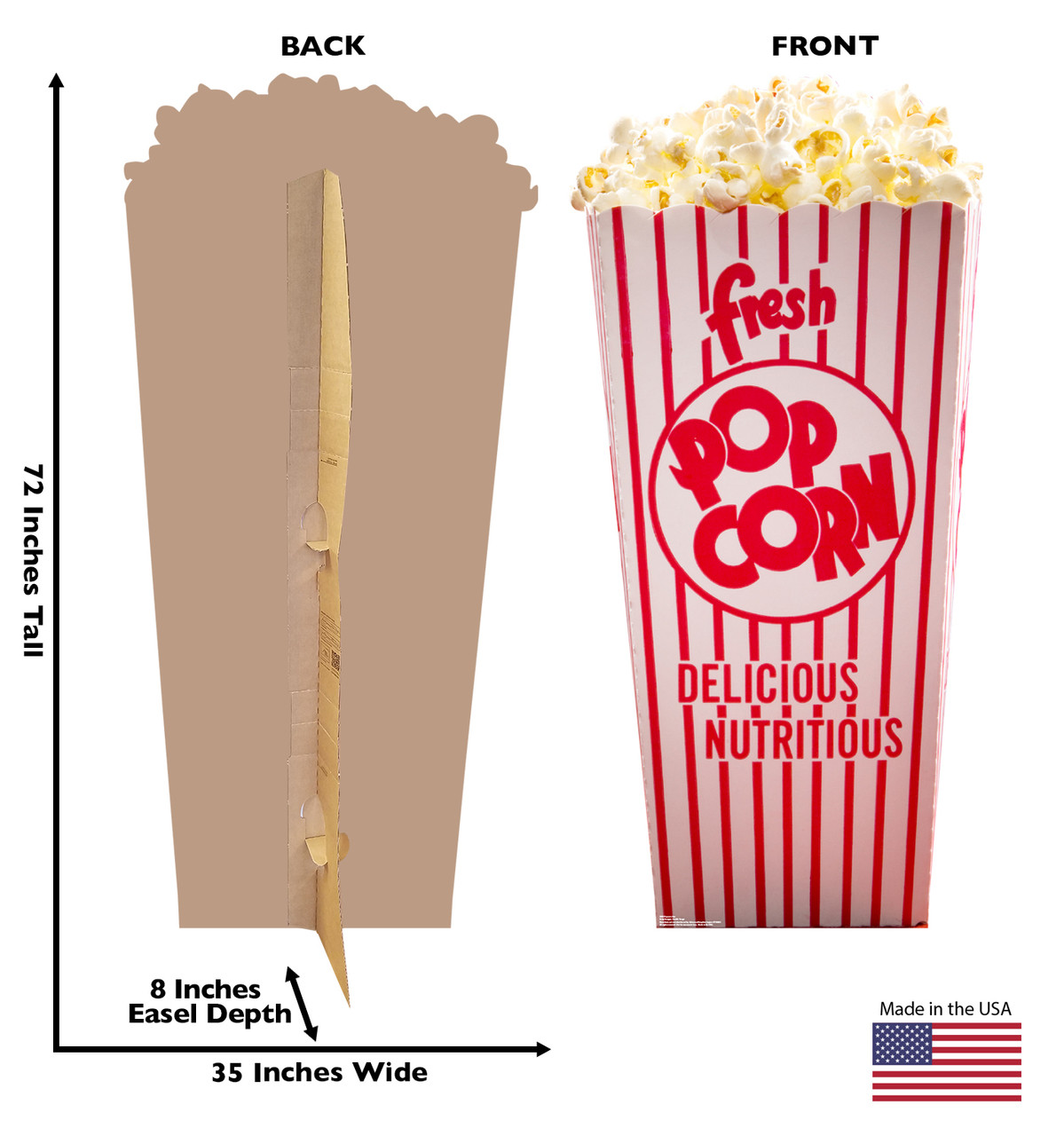 Popcorn Box - Cardboard Cutout