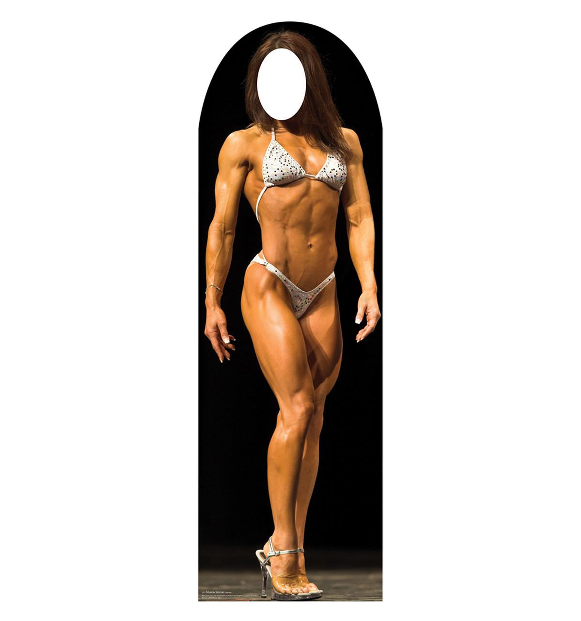 Life-size Muscle Woman Standin Cardboard Standup