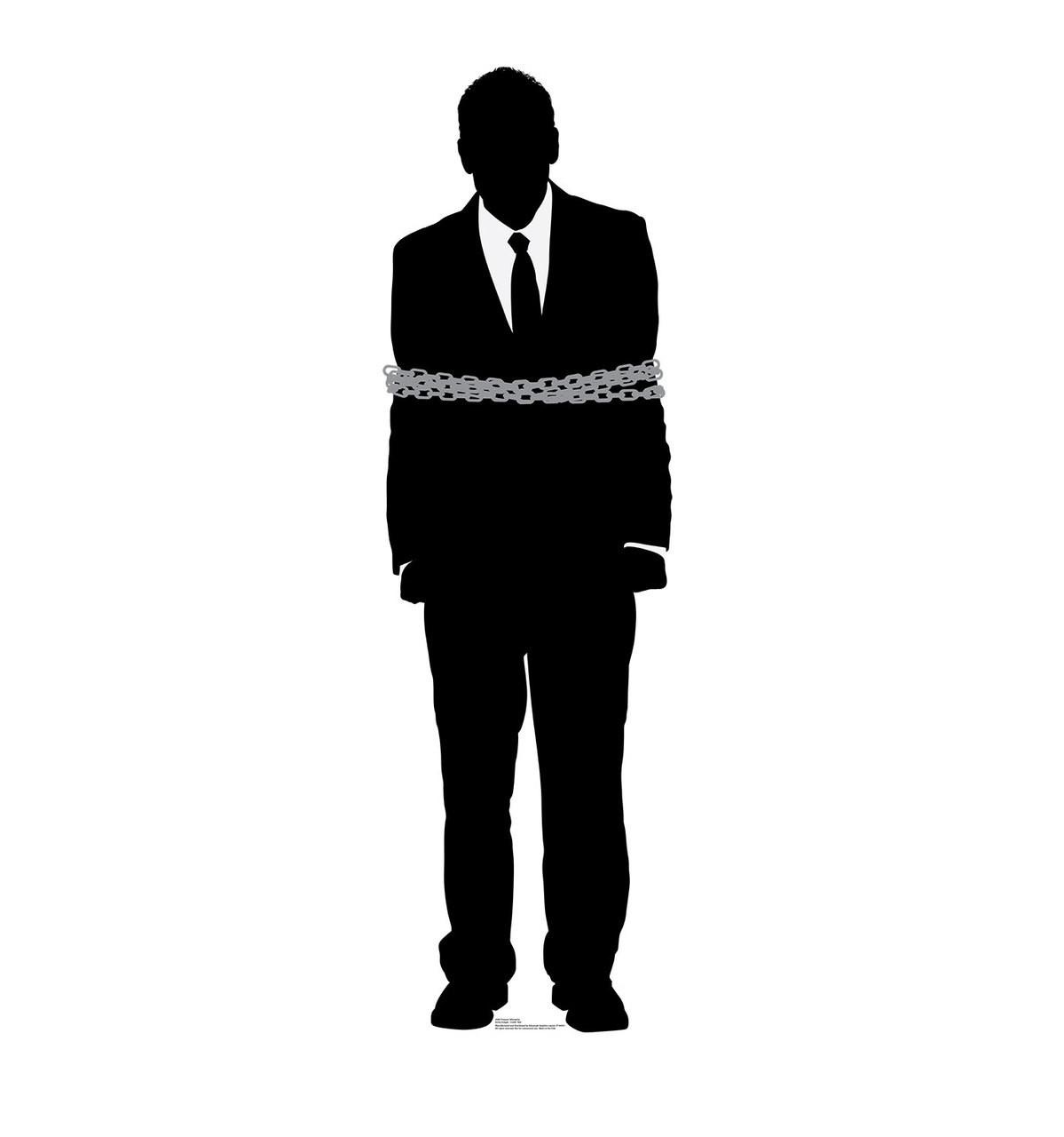 Life-size Prisoner Silhouette Cardboard Standup