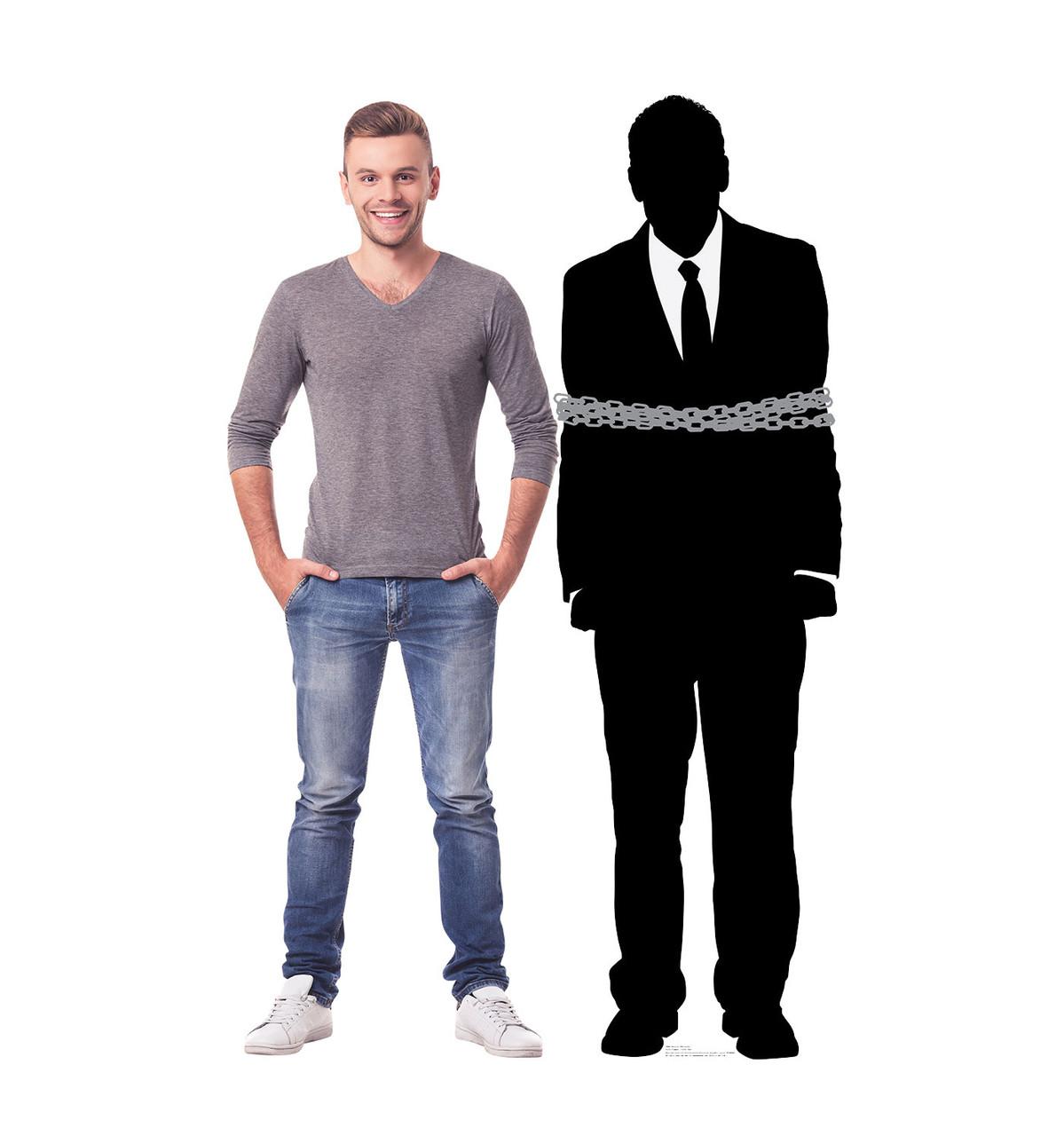 Prisoner Silhouette - Cardboard Cutout
