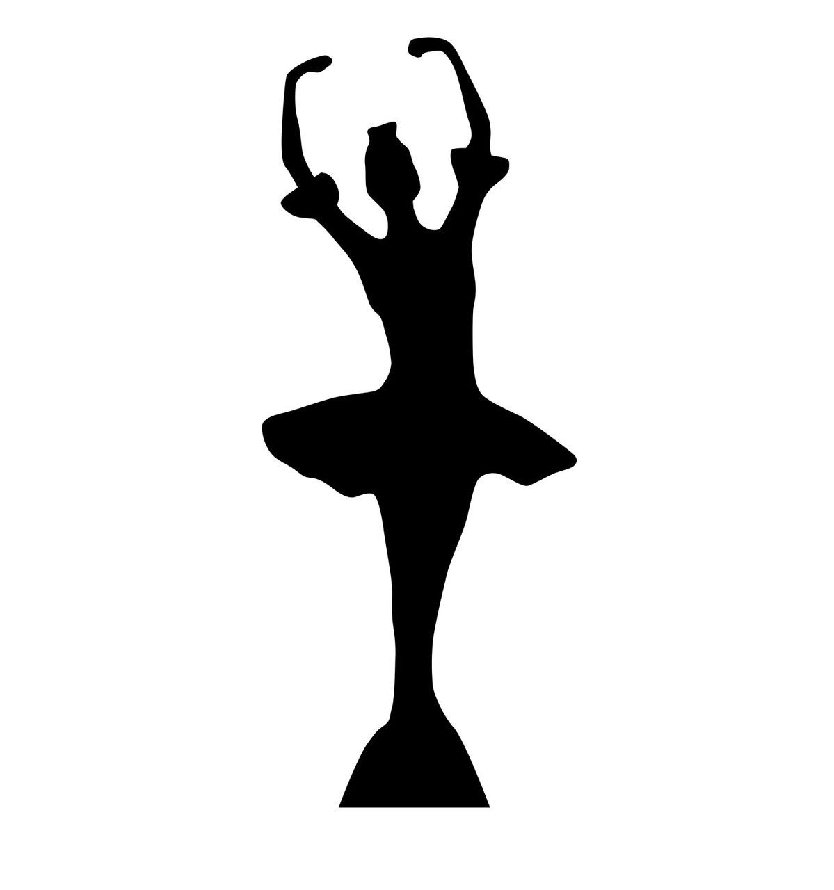 Life-size Ballerina Silhouette Cardboard Standup