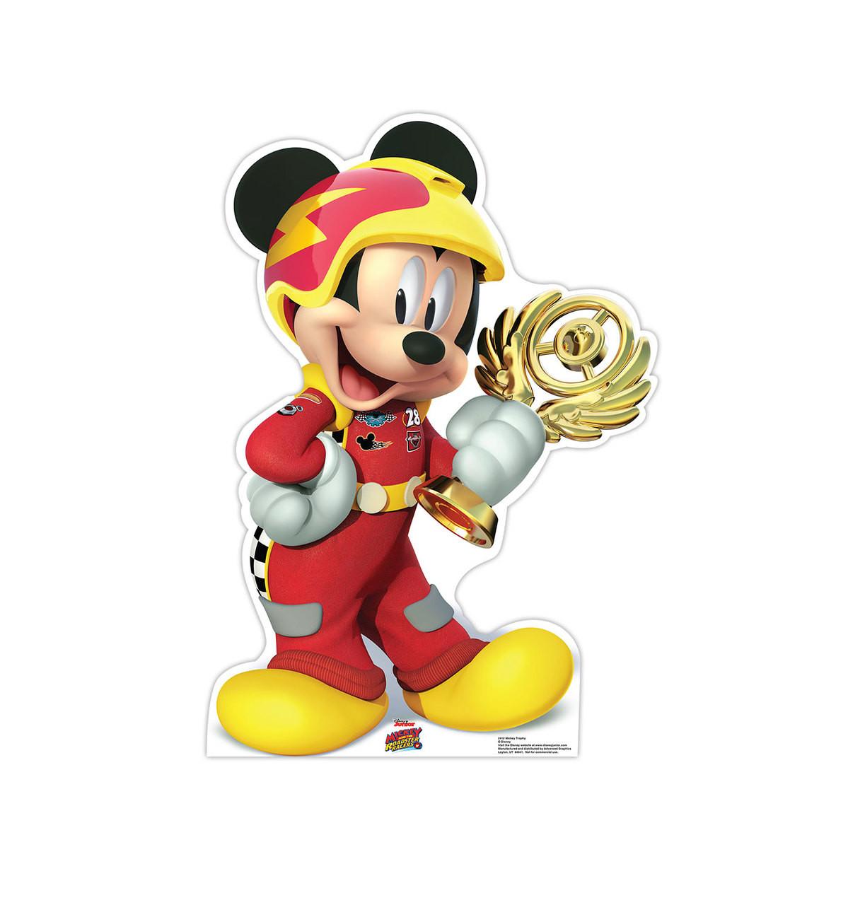 Life-size Mickey Trophy (Disney's Roadster Racers) Cardboard Standup 3