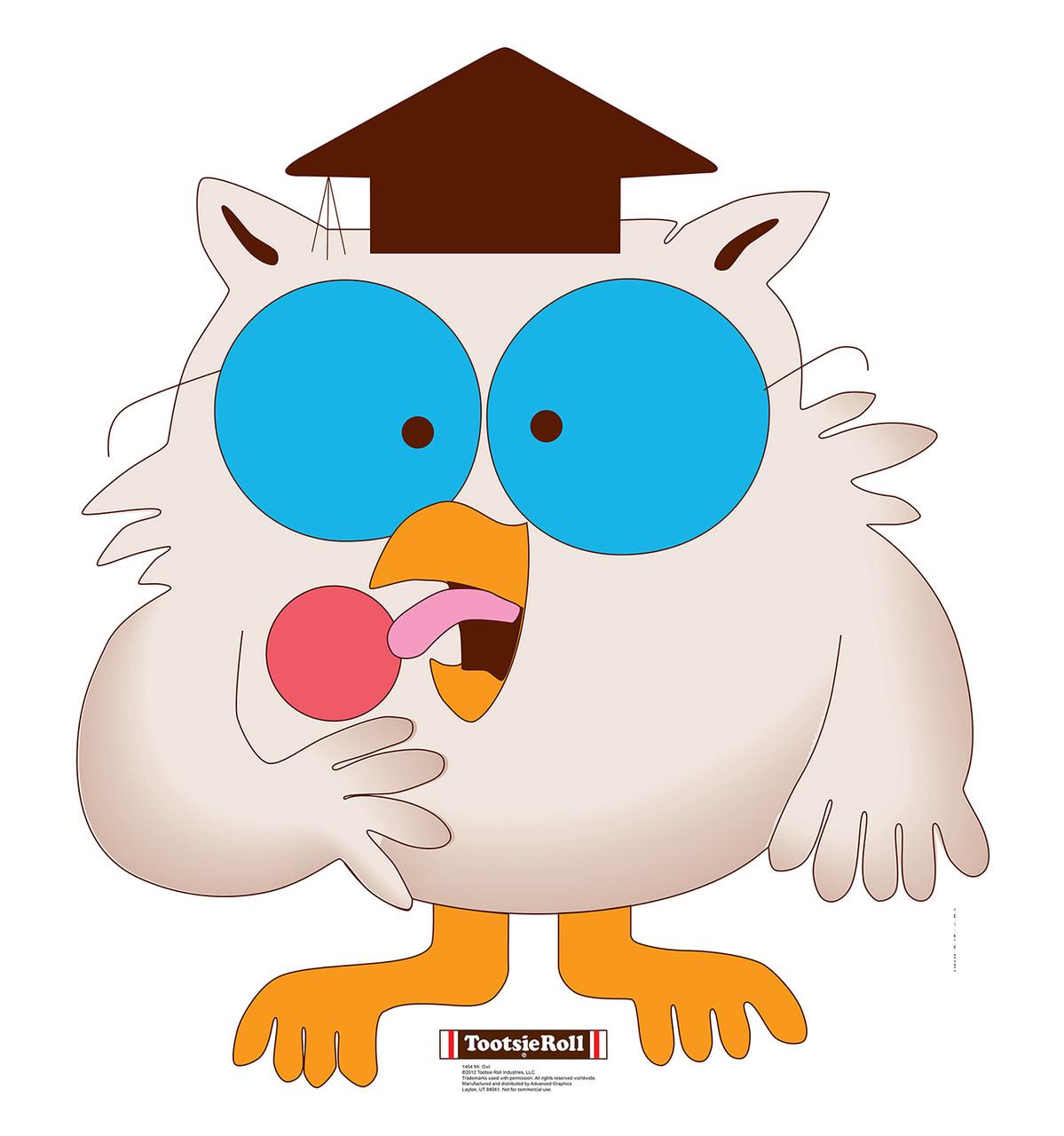 Life Size Mr Owl Tootsie Roll Cardboard Standup Cardboard Cutout