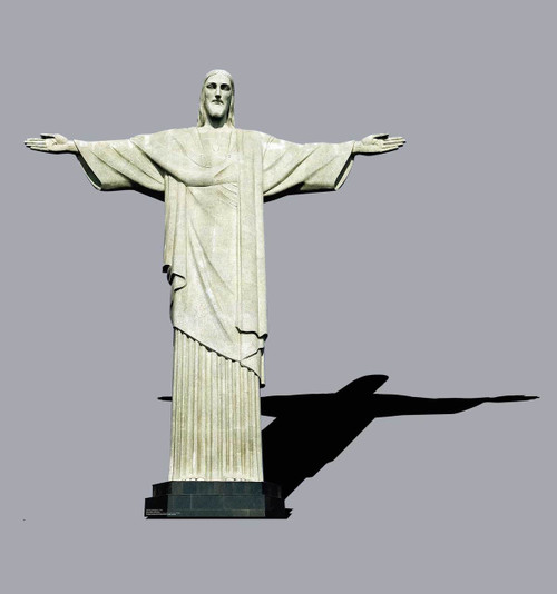 Life-size Christ the Redeemer Brazil Cardboard Standup