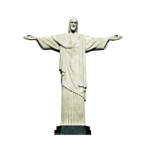 Life-size Christ the Redeemer Brazil Cardboard Standup 2