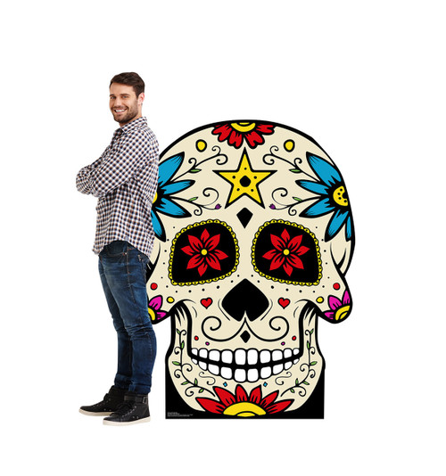 Life-size Day of the Dead Skull Cardboard Standup 2