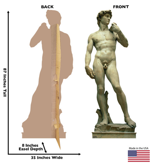 Italy Statue - The David - Cardboard Cutout 1855