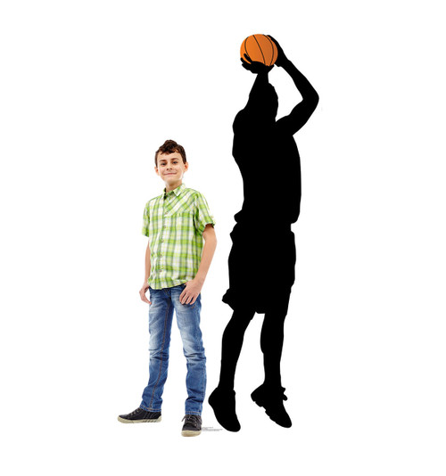 Life-size Basketball Player Shooting Silhouette Cardboard Standup 2
