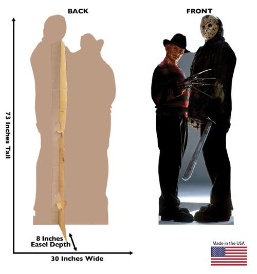 Freddy v Jason lifesize cardboard cutout