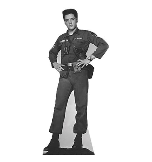 Elvis Army Fatigues - Talking - Cardboard Cutout 382T