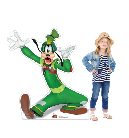 Life-size Goofy Hands in Air (Disney's Roadster Racers) Cardboard Standup 2