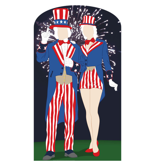 Aunt and Uncle Sam Cardboard Cutout Front View