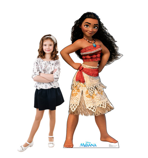 Moana for the Disney Movie Moana with model