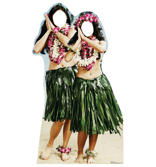 Hawaiian Hula Girls Standin